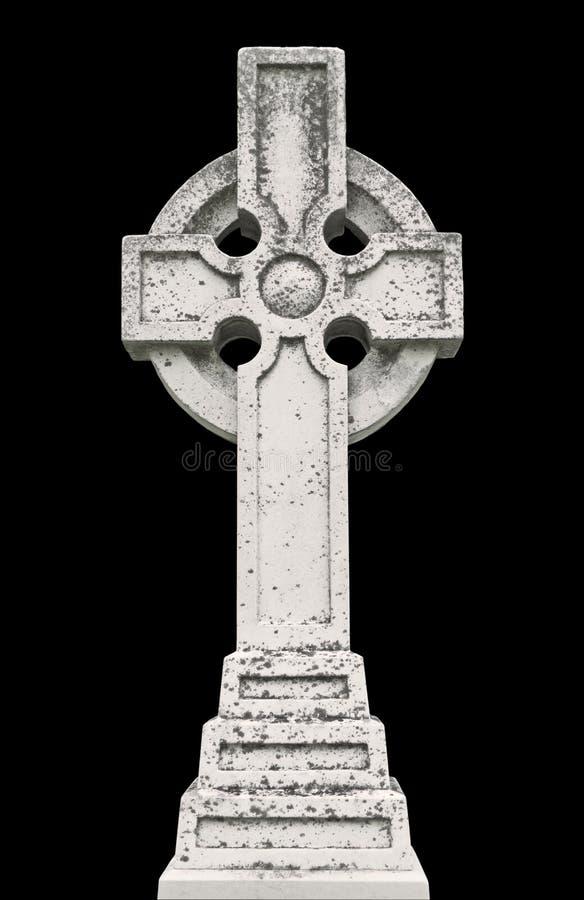 凯尔特世纪交叉墓碑第十九 免版税库存照片