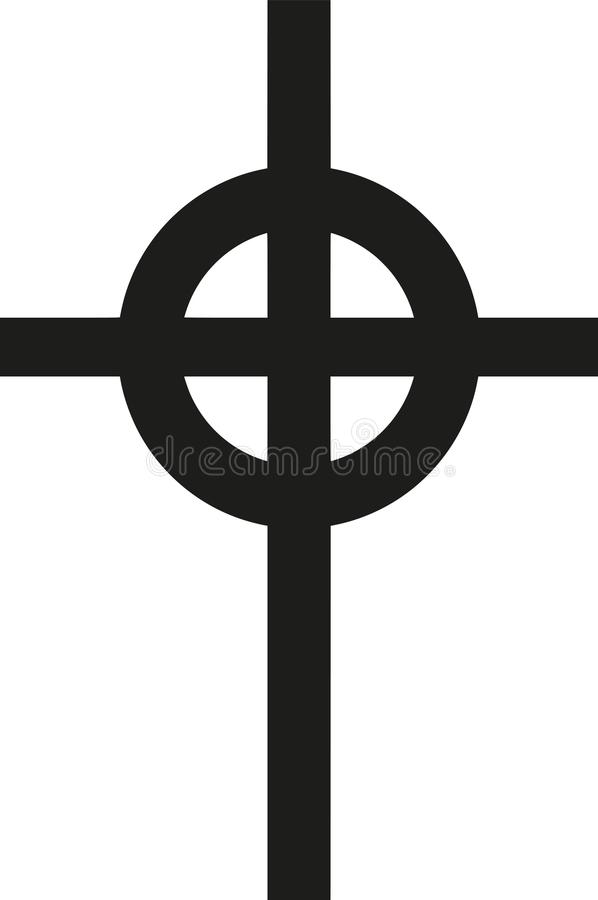 凯尔特十字架传染媒介 库存例证