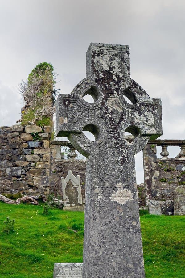 凯尔特十字架在苏格兰 图库摄影