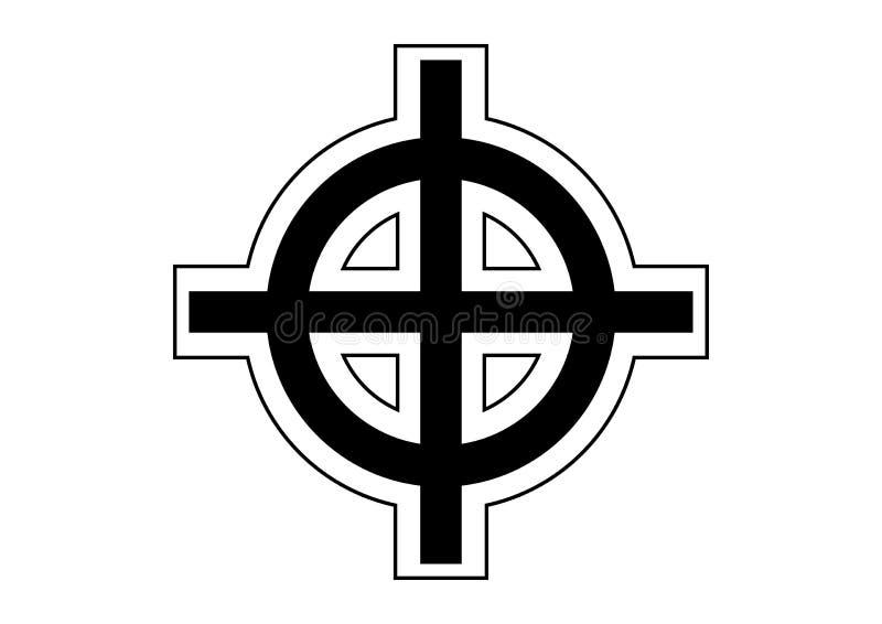 凯尔特十字架 向量例证