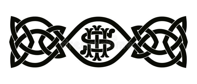 凯尔特国家装饰品 皇族释放例证