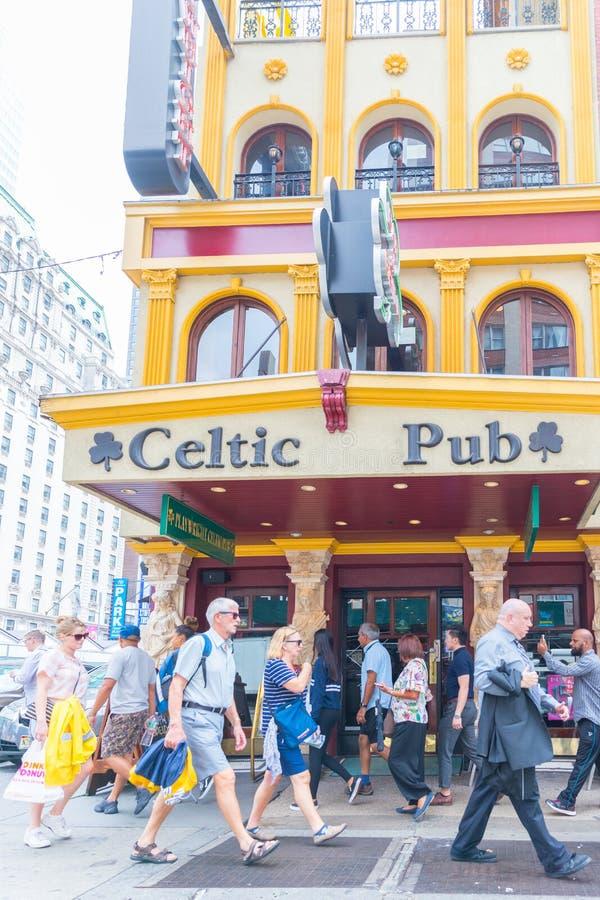 凯尔特客栈在纽约,时代广场 免版税图库摄影