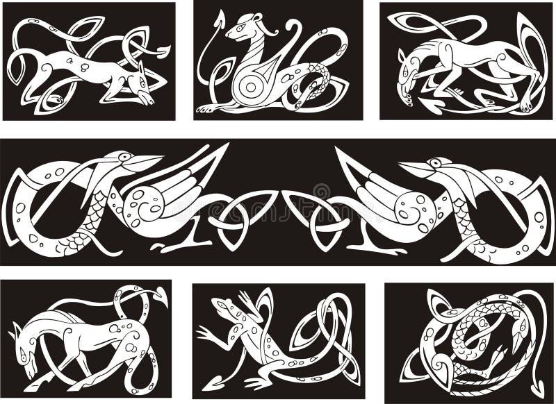 凯尔特结节型wuth动物 皇族释放例证