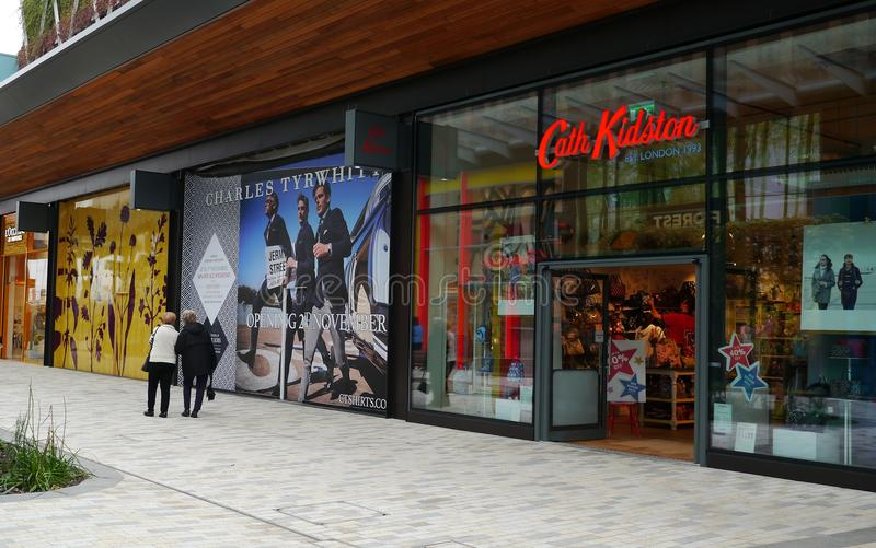 凯思・金德斯顿商店在布拉克内尔` s新的词典购物中心 免版税图库摄影