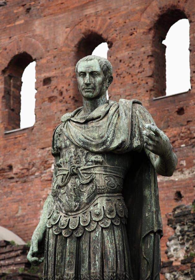 凯撒雕象 免版税库存照片