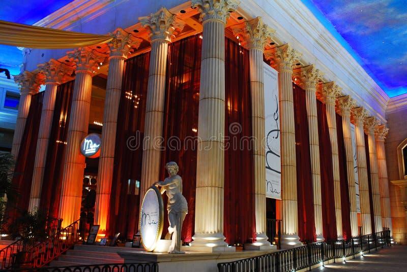 凯撒` s赌博娱乐场,大西洋城内部  库存图片