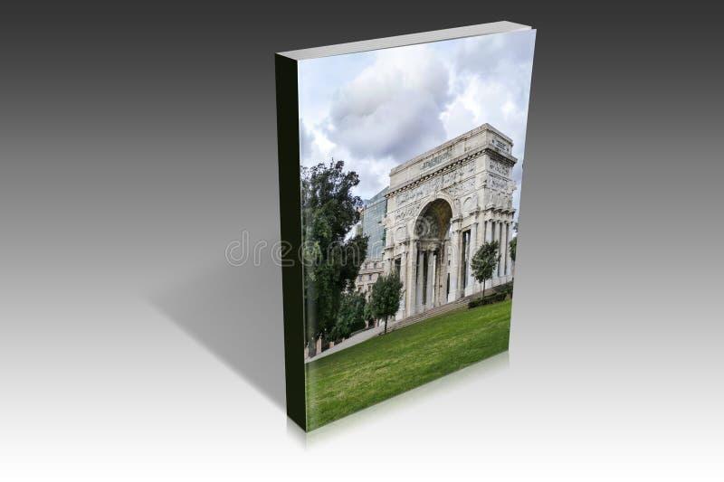 凯旋门的书图解在赫诺瓦 库存图片