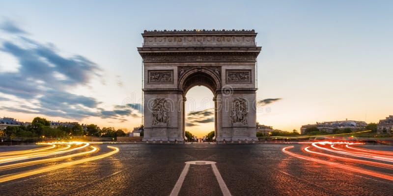 凯旋门巴黎,法国 免版税库存照片