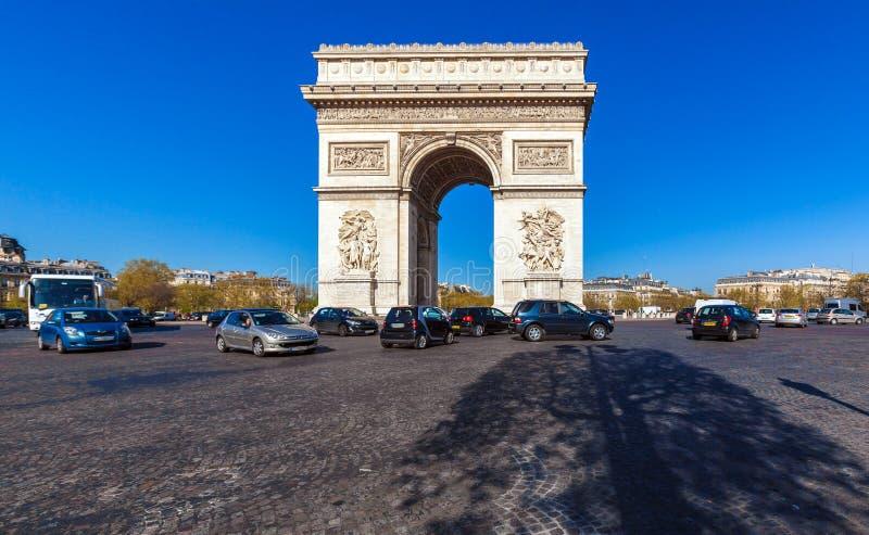凯旋门& x28; 1808& x29; 巴黎 图库摄影