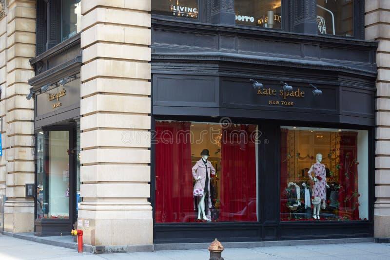 凯特锹商店在第五大道在纽约 免版税库存图片