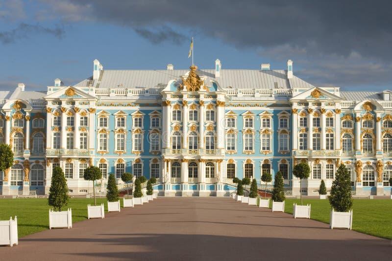 凯瑟琳宫殿俄国selo tsarskoe 免版税库存照片