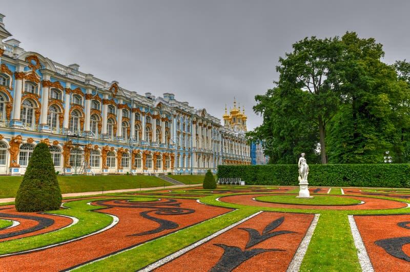 凯瑟琳宫殿-普希金,圣彼德堡,俄罗斯 免版税库存图片