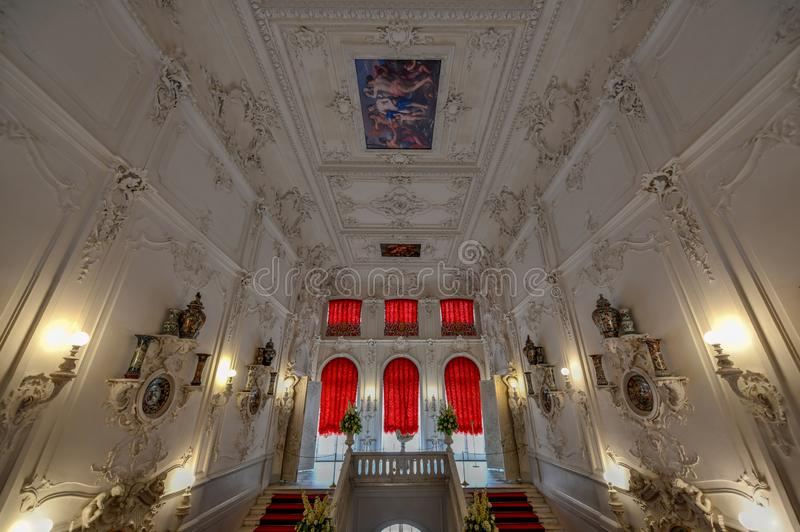 凯瑟琳宫殿-普希金,圣彼德堡,俄罗斯 库存图片