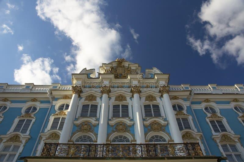 凯瑟琳的宫殿, Tzarskoe Selo (Pushkin),俄国 免版税库存图片