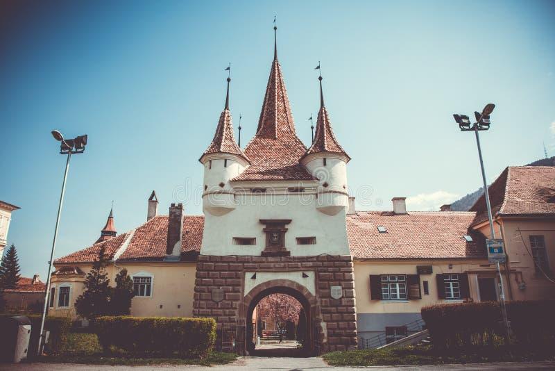 凯瑟琳门,布拉索夫,罗马尼亚 历史,纪念碑 免版税库存照片
