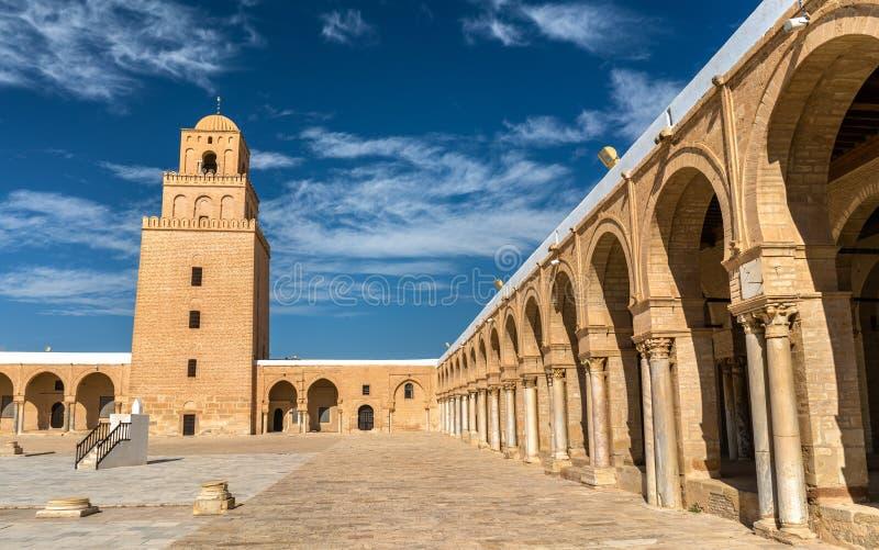 凯鲁万清真大寺在突尼斯 库存图片
