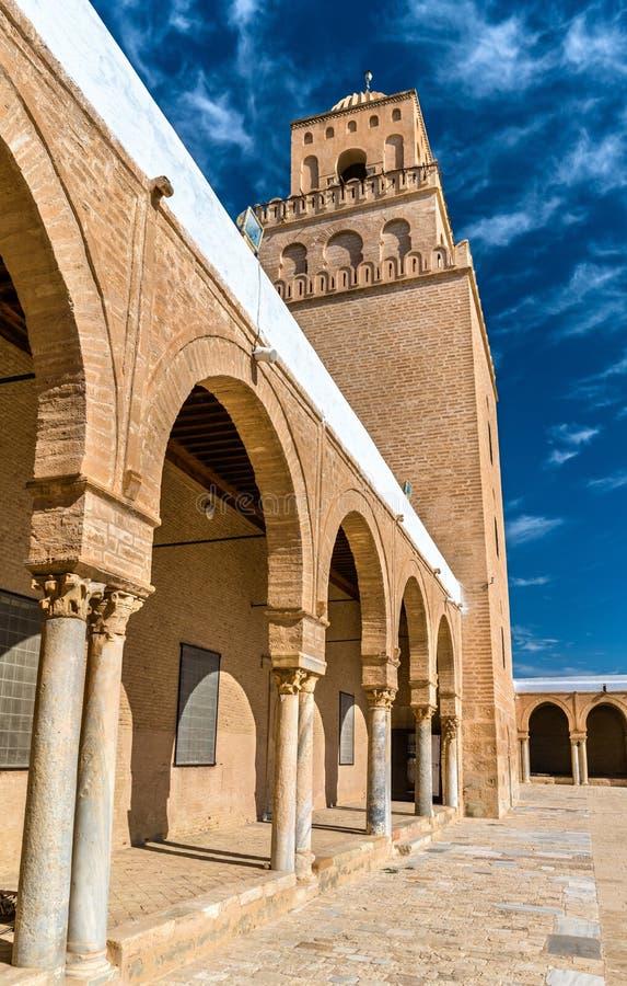 凯鲁万清真大寺在突尼斯 免版税库存图片