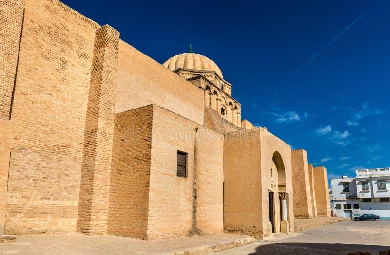 凯鲁万清真大寺的墙壁在突尼斯 免版税库存图片