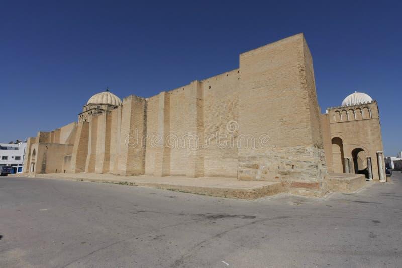 凯鲁万,突尼斯清真大寺的墙壁  库存图片