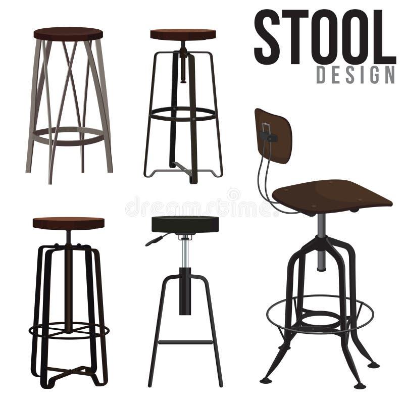 凳子设计 向量例证