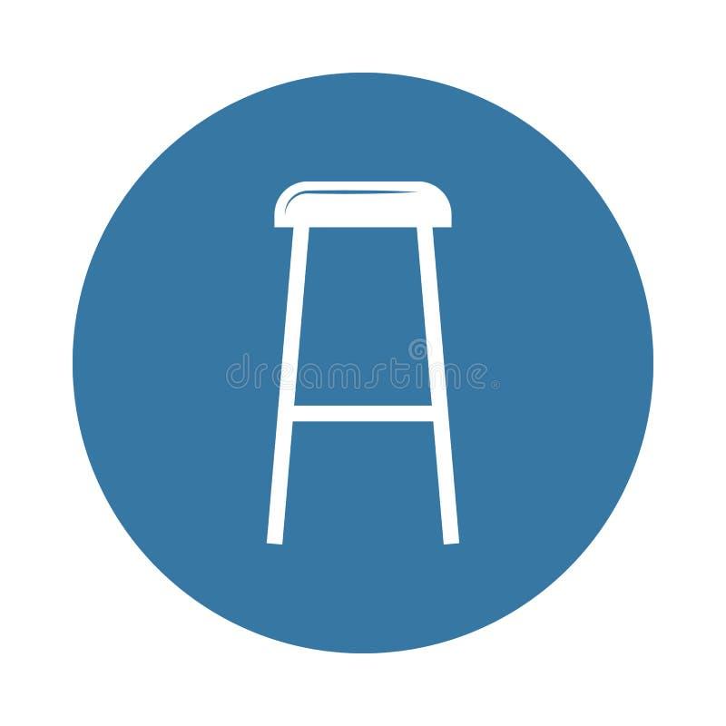 凳子象 家具象的元素流动概念和网apps的 徽章样式凳子象可以为网和流动apps使用 皇族释放例证