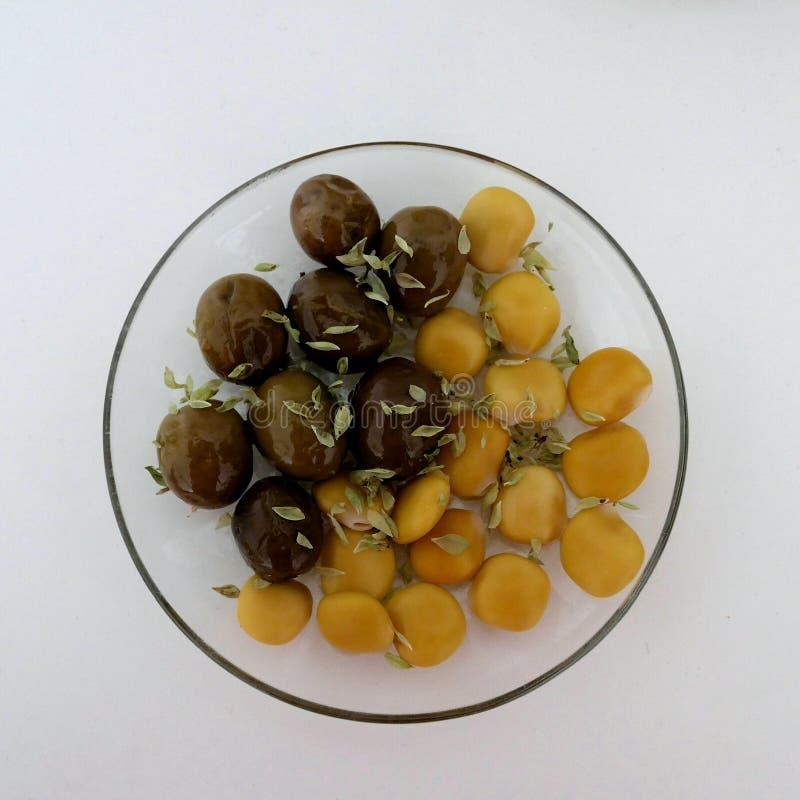 凶猛豆,羽扇豆属albus Tremocos, 图库摄影