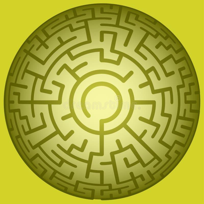 凸面圆的迷宫 库存例证