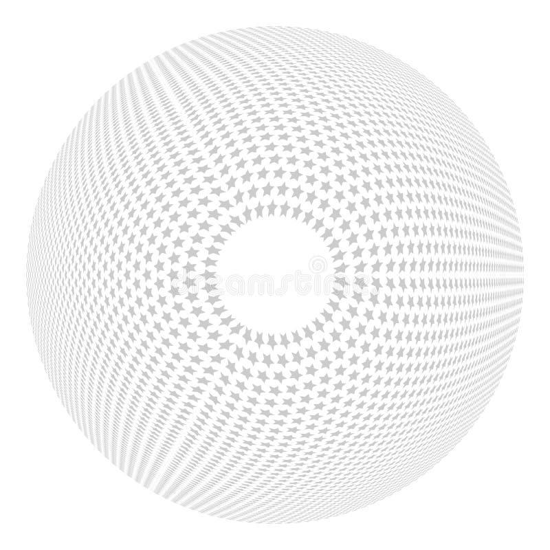 凸面特征模式 圈子设计元素 库存例证