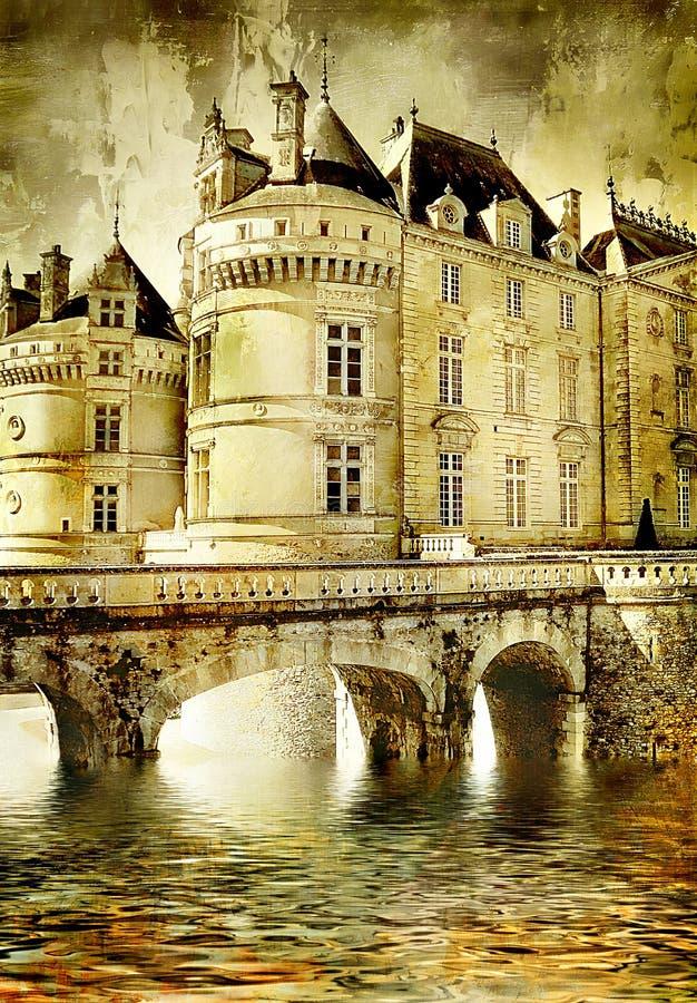 凹下去的城堡 库存照片