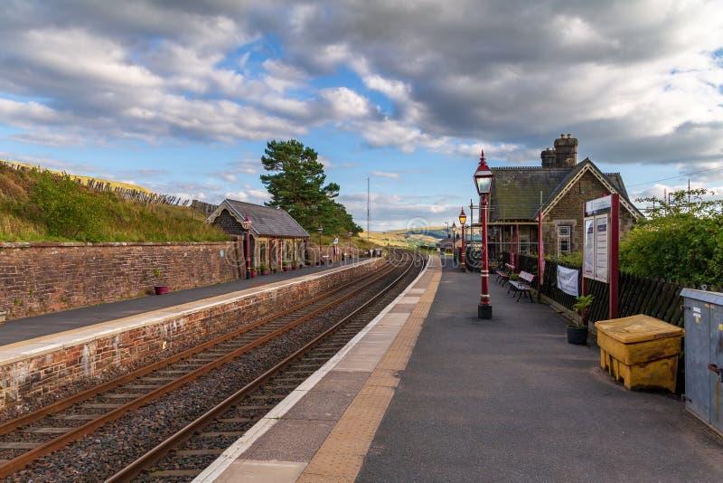 凹痕火车站,约克夏山谷, Cumbria,英国 库存图片