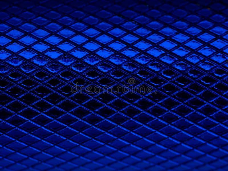 刻凹痕金属纹理的蓝色 免版税图库摄影