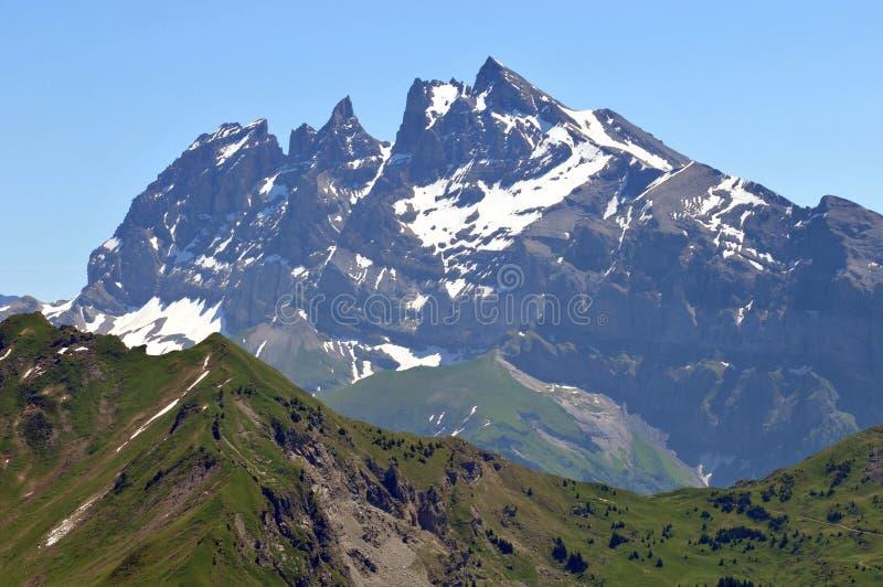 凹痕du密地在法国阿尔卑斯 免版税库存照片