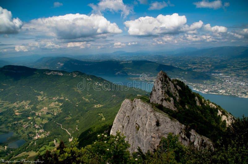 凹痕du闲谈在法国阿尔卑斯 库存照片