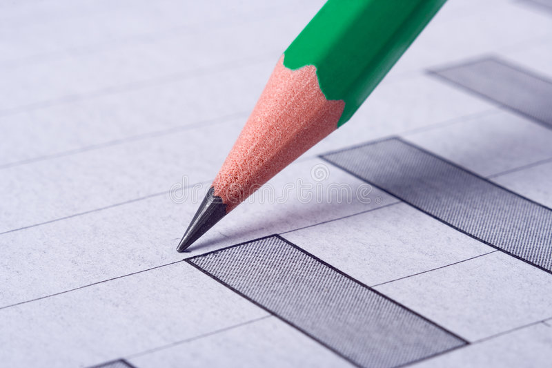 凹道图形铅笔 免版税库存图片