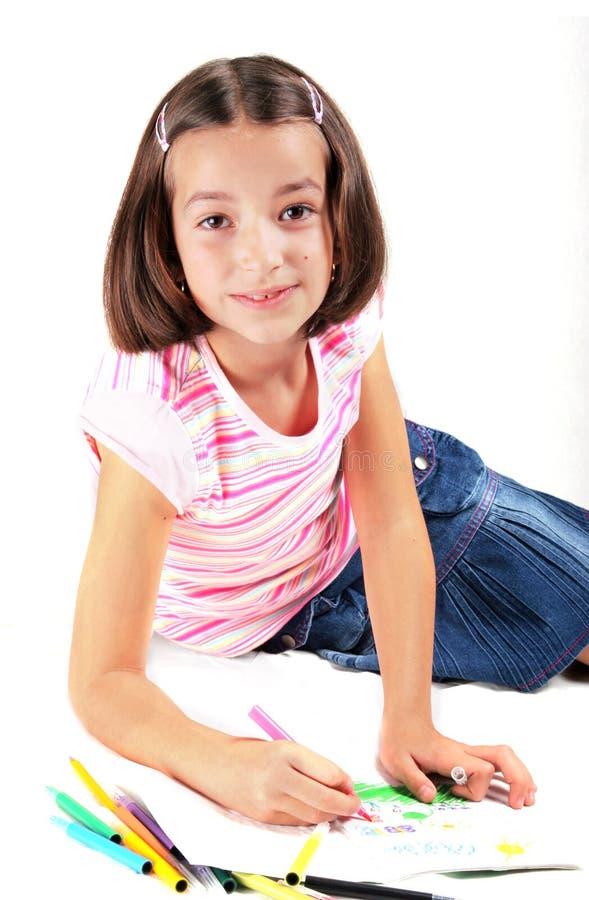 凹道女孩年轻人 库存图片
