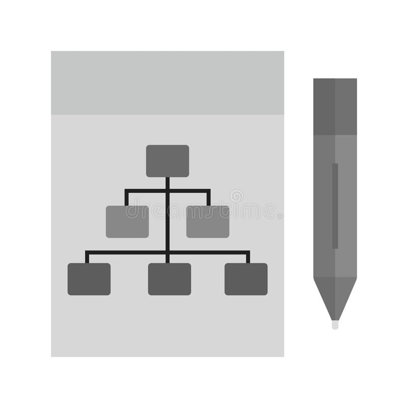 凹道阶层 向量例证