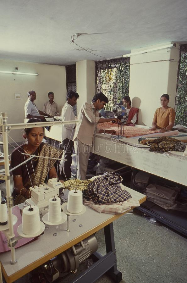 出口型的服装manufacuring的单位 免版税图库摄影