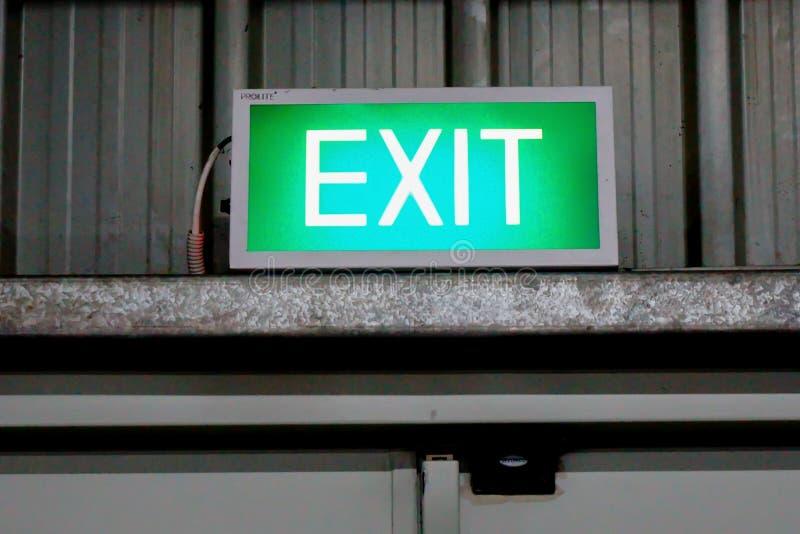 出口标志-表明出口 库存图片