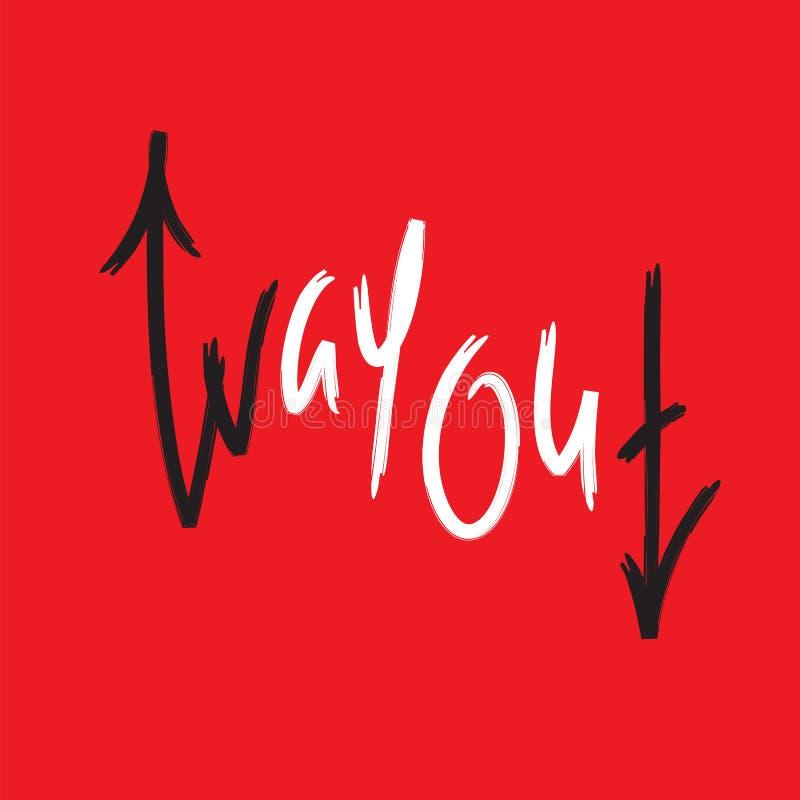 出口-简单启发和诱导行情 英国成语,在上写字 青年俗话 为激动人心的海报, T恤杉, b打印 向量例证