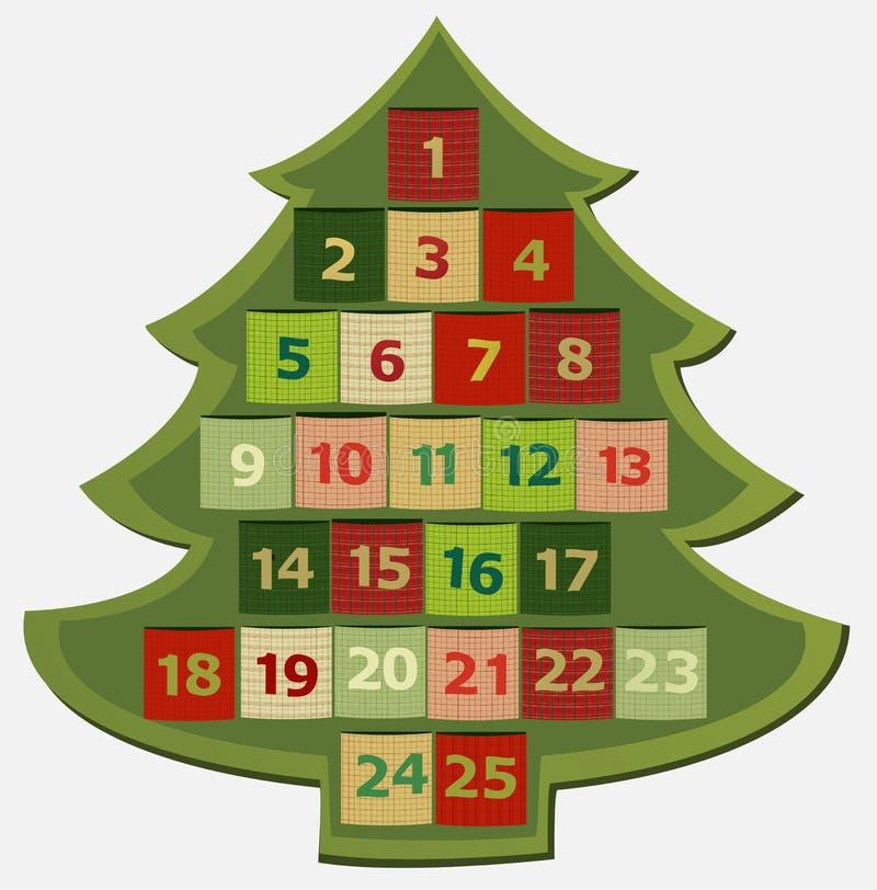 出现日历动画片圣诞节要素图标计时多种 库存例证