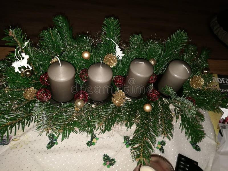 出现花圈it& x27; s圣诞节的一件传统事 图库摄影