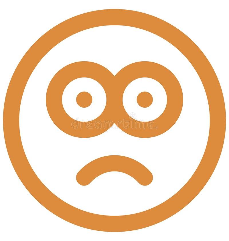 出神的面孔,注视意思号传染媒介隔绝了可能容易地修改或编辑的象 皇族释放例证