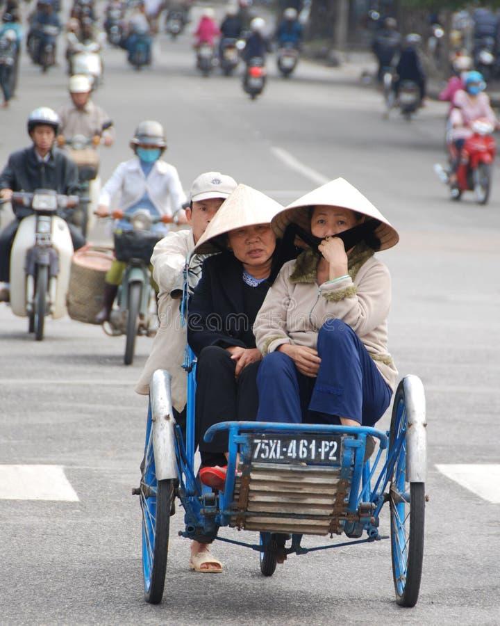 出租机动三轮车越南 库存照片