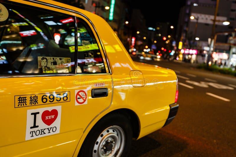 出租汽车在东京,日本 库存照片