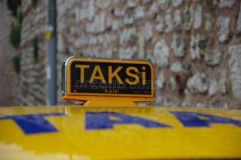出租汽车在伊斯坦布尔 库存照片