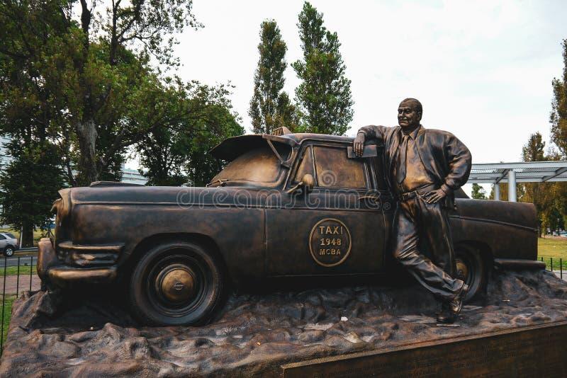 出租汽车纪念碑在布宜诺斯艾利斯 图库摄影