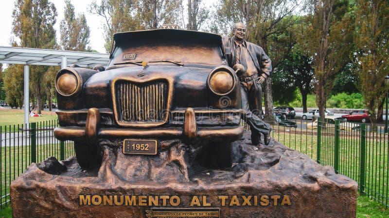 出租汽车纪念碑在布宜诺斯艾利斯 库存照片