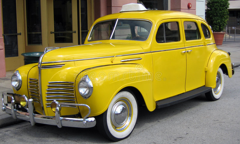 出租汽车黄色 库存照片