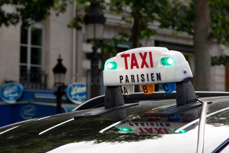 巴黎出租汽车 免版税库存照片