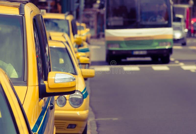出租汽车 库存图片